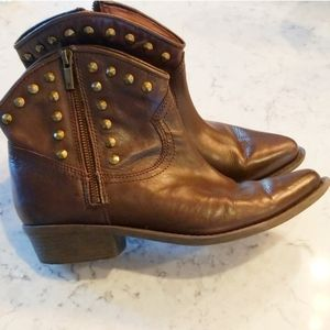 Lucky brand studded cowboy booties